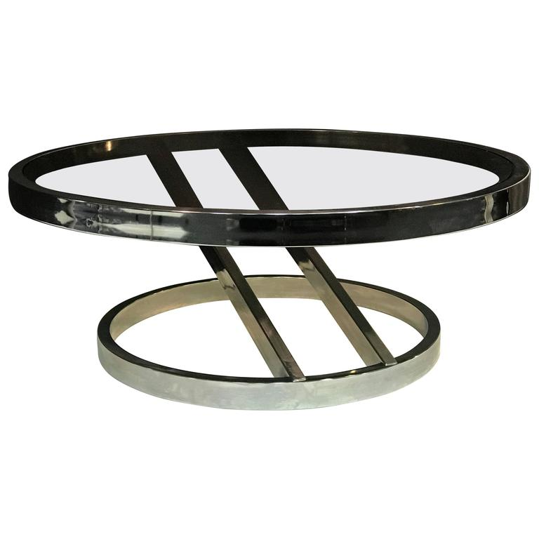 Striking Chrome Coffee Or Centre Table By Milo Baughman At