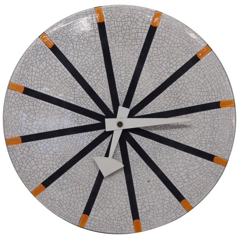 George nelson howard miller meridian italian pottery wall for Nelson wall clock