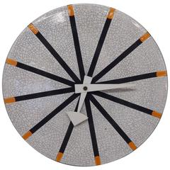 George Nelson Howard Miller Meridian Italian Pottery Wall Clock