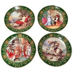 1980'S Set Of Four Limoge Napoleon & Josephine Collector Plates