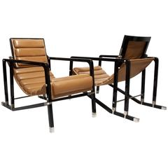 Eileen Gray, Pair of Transat Chairs by Andrée Putman, Ecart International