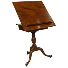 18th Century Mahogany Artists or Reading Table