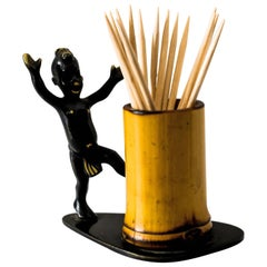 Toothpick Holder with African Boy by Richard Rohac