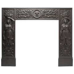 Pair of Antique Rococo Cast Iron Fireplace Surrounds For Sale at ...