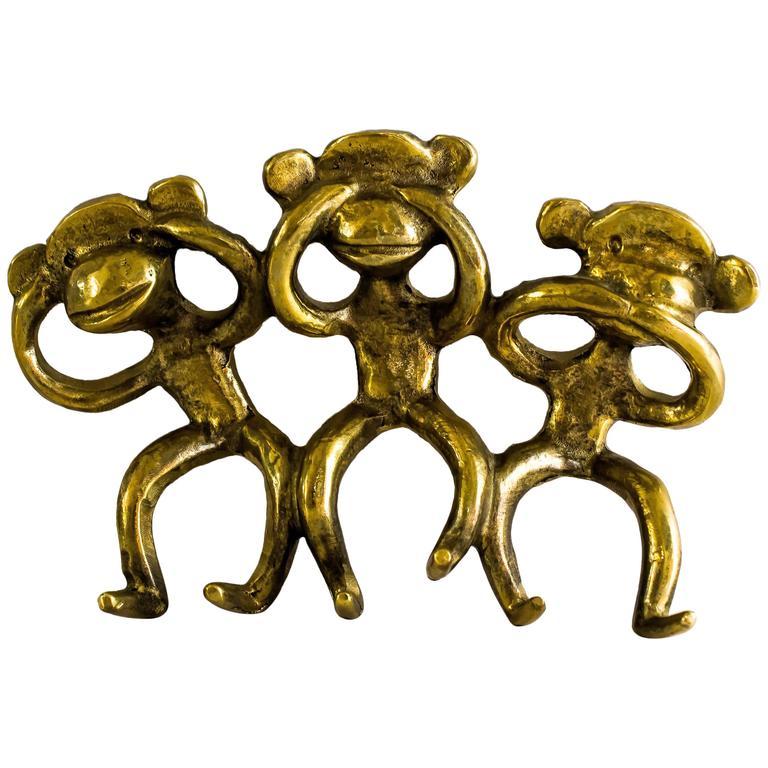 Rare Walter Bosse Key Hanger Monkeys