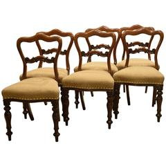 Set of Six Mahogany Victorian Period Chairs