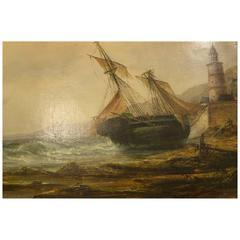 Millson Hunt Oil Painting of Seascape