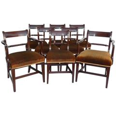 Set Eight George III Mahogany Dining Chairs