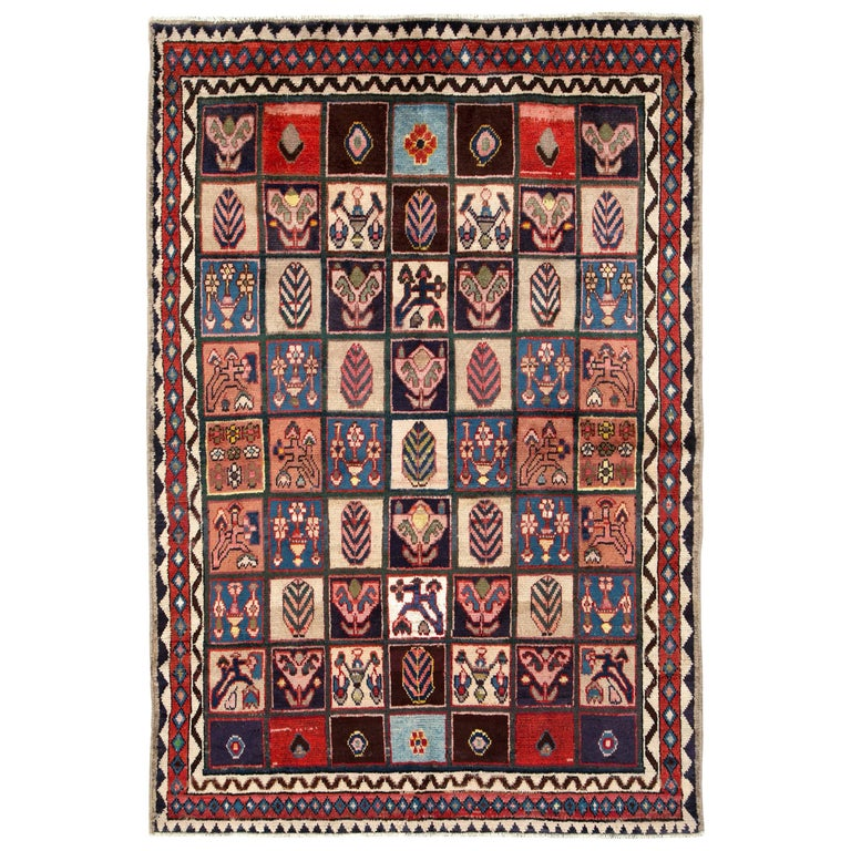 Vintage Persian Bakhtiari Rug For Sale