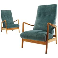 Mod 829 High Back Armchair by Gio Ponti for Cassina, 1950s
