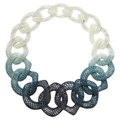 """""""Trans-Hematopoietic Black, Neckpiece"""" a Printed 3D Necklace by Doug Bucci, 2011"""
