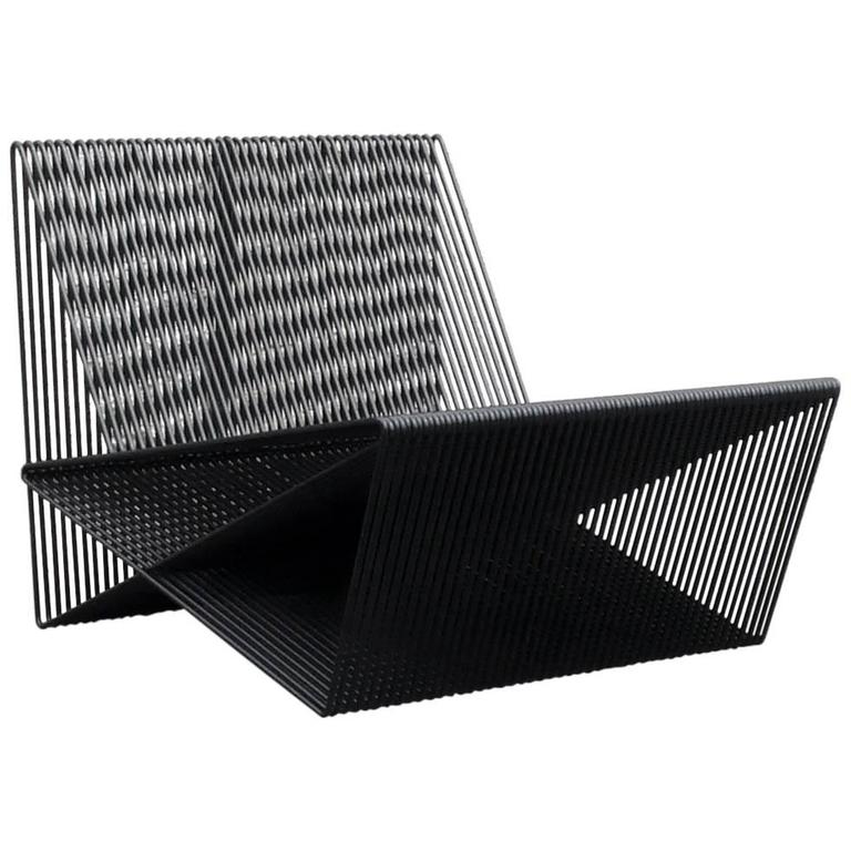 Circuit - Powder-Coated Steel Geometric Sculptural Lounge Chair For Sale