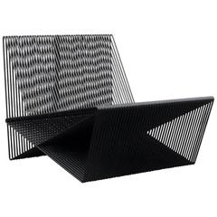 Circuit - Powder-Coated Steel Minimal Geometric Sculptural Lounge Chair