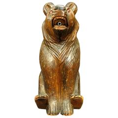 Black Forest Spirit Decanter in the Form of a Seated Bear