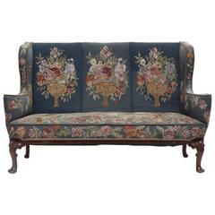 Attractive Queen Anne Style Mahogany Sofa