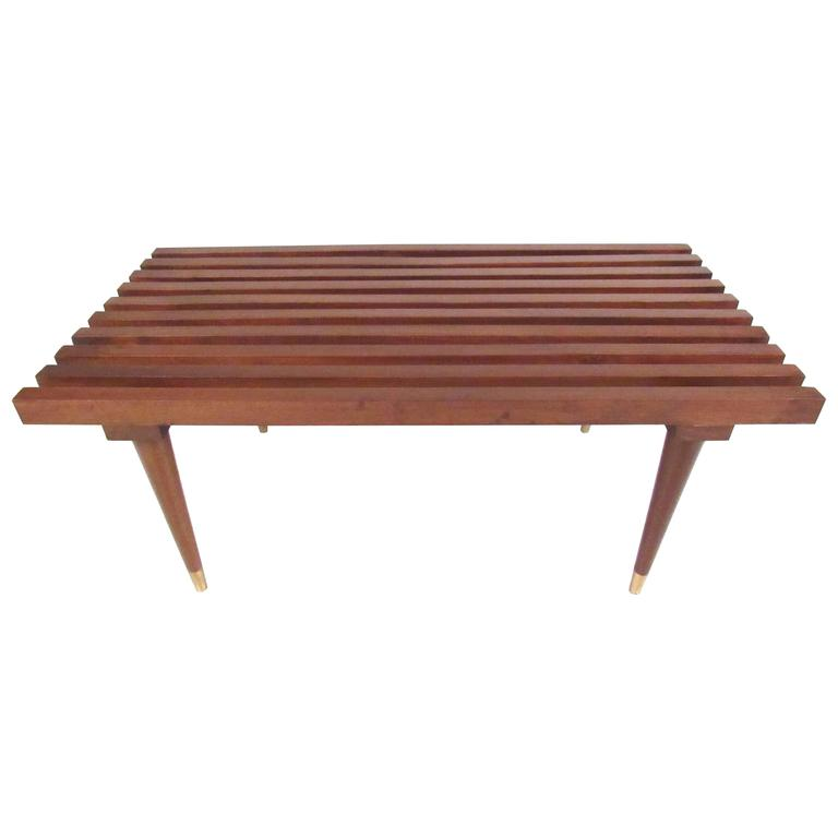 George Nelson Style Slat Bench For Sale At 1stdibs