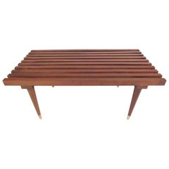 Astounding George Nelson Attributed Wooden Bench 1950S At 1Stdibs Andrewgaddart Wooden Chair Designs For Living Room Andrewgaddartcom