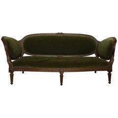 Irish Mohair Sofa in Green