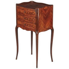 Louis XV Style Marquetry Bedside Chest of Drawers, 1900s