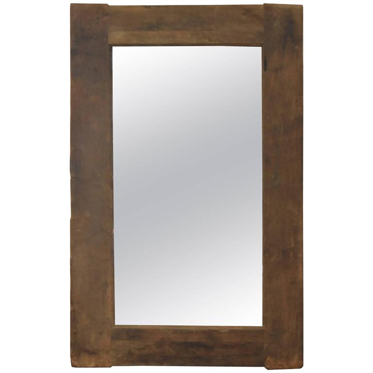 Spanish Early Chestnut Rustic, 18th Century Framed Mirror For Sale ...
