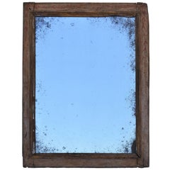 Early Spanish 17th-18th Century Polychromed Frame with Replaced Mirror