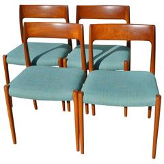 Set of 4 Niels Otto Moller Teak Dining Chairs