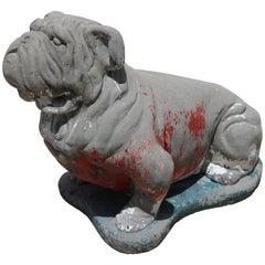 """Georgia Bulldog"" Concrete Sculpture"