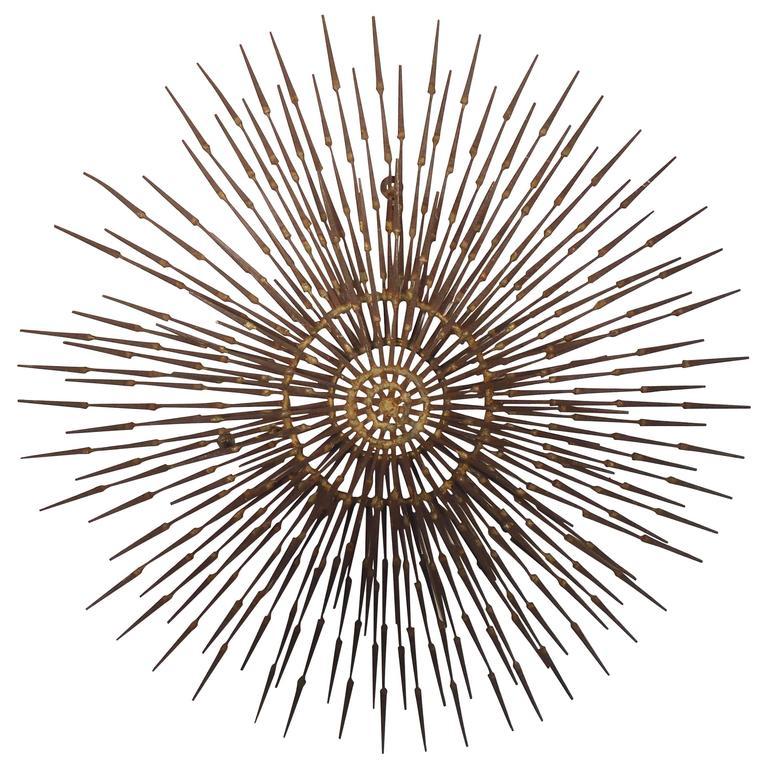 Ron schmidt designed mid century sunburst art for sale at for Sunburst wall art