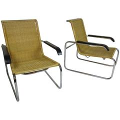 Marcel Breuer B 35 Chairs for Thonet