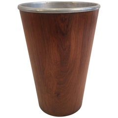 Rosewood Wastebasket with Metal Insert by Martin Aberg for Servex