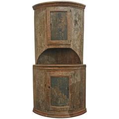18th Century Swedish Corner Cabinet