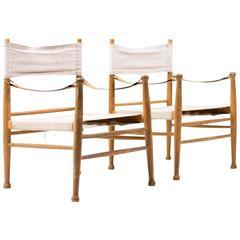 Pair of Danish Safari Chairs