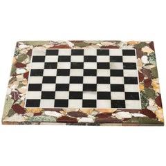 Pietra Dura Specimen Framed Italian Marble Game Board