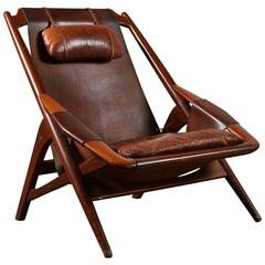 Leather Lounge Chair by W.D. Andersag