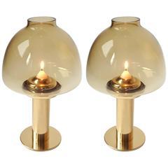 Pair of Hans Agne Jakobsson Brass Candleholder L102/27, 1960s, Sweden