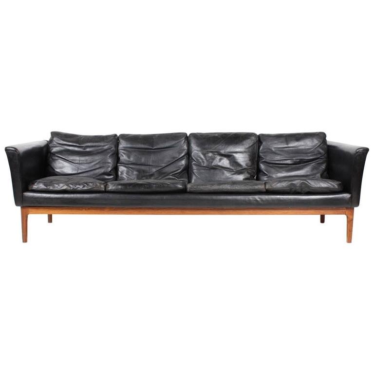 Stunning Four-Seat Sofa in Leather