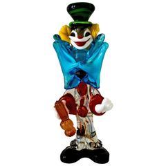 Murano Glass Clown Italien, 1950er