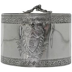 18th Century George III Antique Sterling Silver Tea Caddy William Vincent