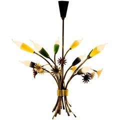 Beautiful Floral Chandelier, Italian, 1960s
