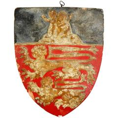Early 20th Century Plaster Warrant Shield