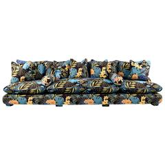 Chacha Sofa, Belgian Floral Tapestry Fabric, Down Feather Cushions