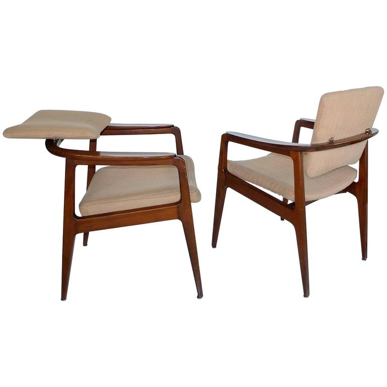 Pair of Tilt-Back Teak Armchairs by Sigvard Bernadotte, the Prince of Sweden