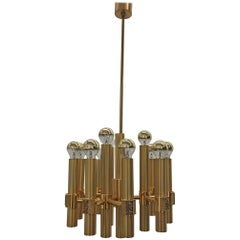 Brutalist Chandelier Angelo Brotto for Esperia, 1960s, Mid-Century Modern