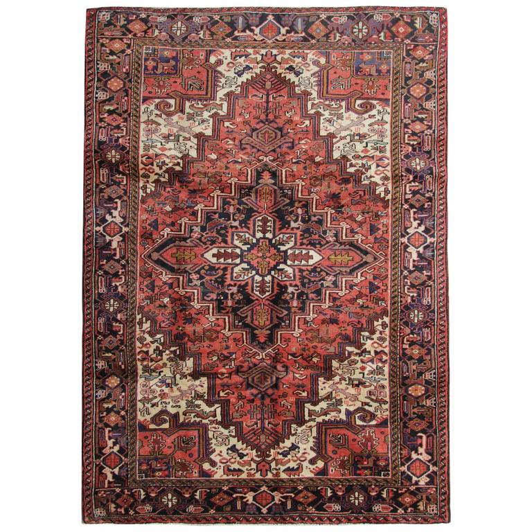 Antique Carpet Persian Rugs From Heriz For