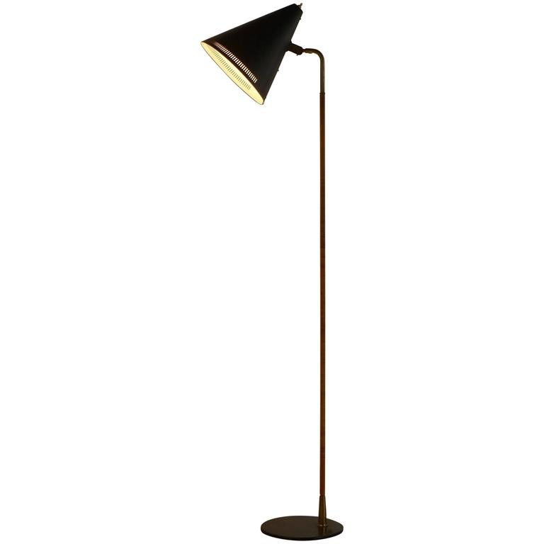 Paavo Tynell Floor Lamp 1950s, Stamped 1