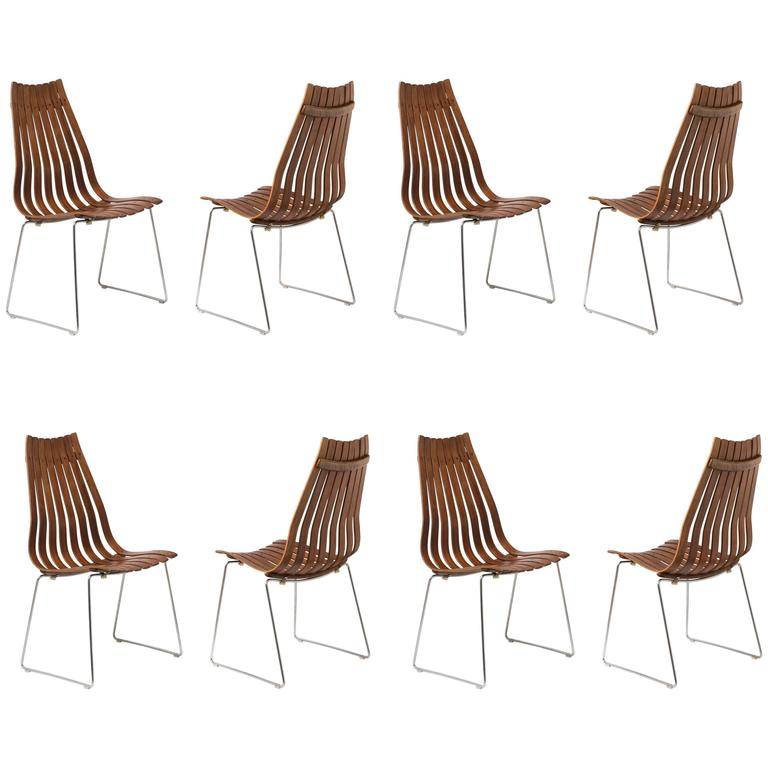 Set of Eight Scandia Chairs in Beautiful Rosewood by Hans Brattrud