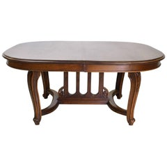 19th Century, French Belle Époque Coffee Table in Walnut