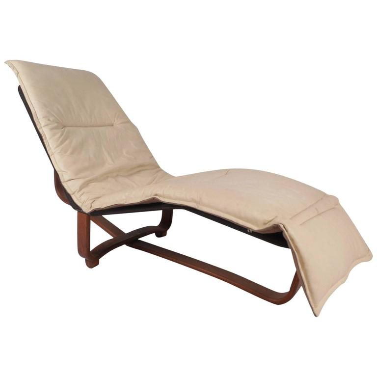 mid century modern chaise longue by ingmar and knut relling for westnofa for sale at 1stdibs. Black Bedroom Furniture Sets. Home Design Ideas