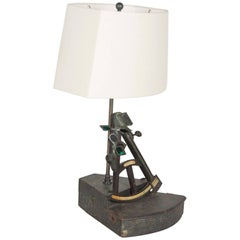 Early 19th Century Nautical Octant Now as Table Lamp