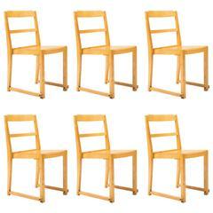 Sven Markelius, Set of Six Stacking Chairs